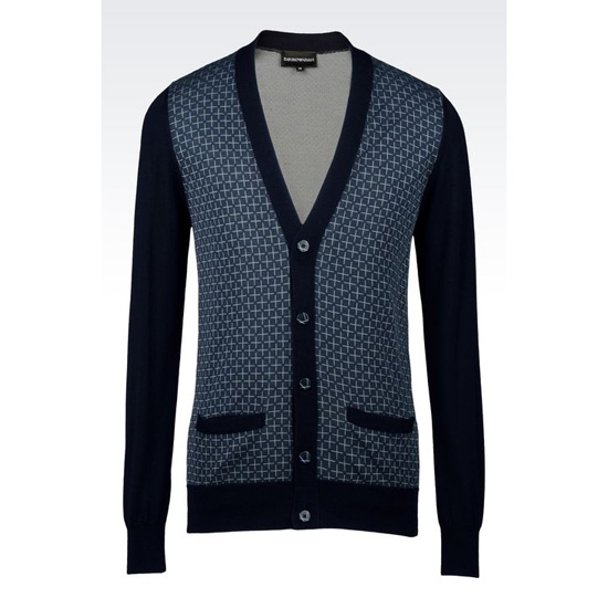 ARMANI CARDIGAN IN VIRGIN WOOL Outlet Online