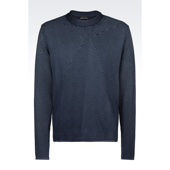 ARMANI SWEATER IN STOCKINETTE COTTON Outlet Online