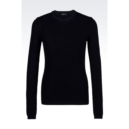 ARMANI SWEATER IN NET STITCH COTTON Outlet Online