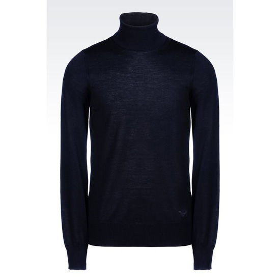 ARMANI TURTLENECK SWEATER IN SHAVED WOOL Outlet Online