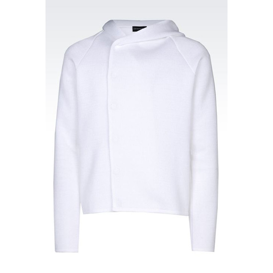 ARMANI RUNWAY HOODED COTTON SWEATER Outlet Online