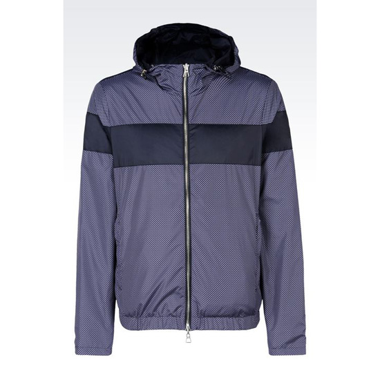 ARMANI REVERSIBLE BLOUSON IN PRINTED TECHNICAL FABRIC Outlet Online