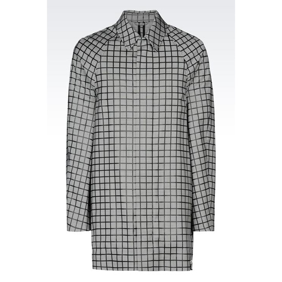 ARMANI TRENCH IN HOUNDSTOOTH VIRGIN WOOL Outlet Online