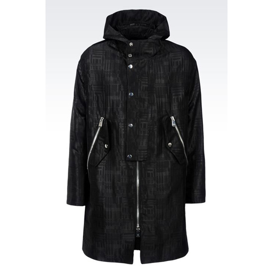 ARMANI RUNWAY PARKA IN JACQUARD WOOL Outlet Online