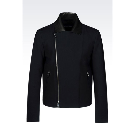 ARMANI BLOUSON IN STRETCH WOOL Outlet Online