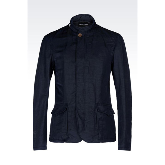 ARMANI PEA COAT IN TECHNICAL LINEN Outlet Online