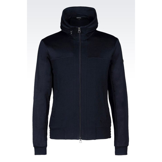 ARMANI FULL ZIP FLEECE BLOUSON Outlet Online