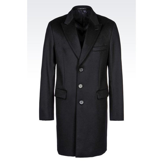 ARMANI CLASSIC COAT IN WOOL BROADCLOTH Outlet Online
