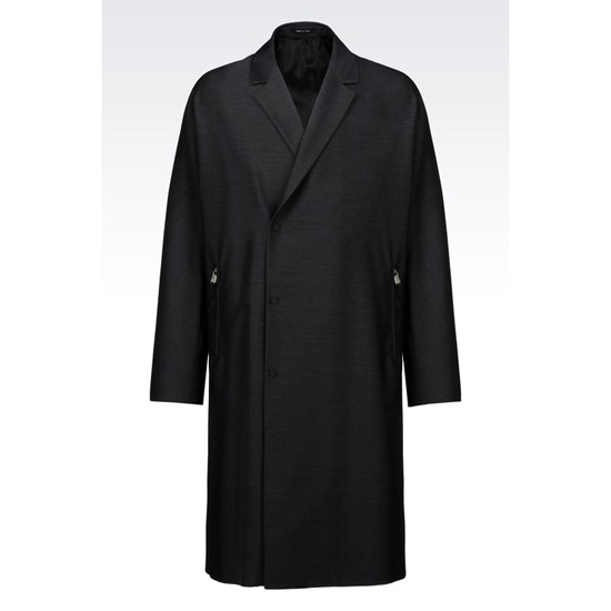 ARMANI RUNWAY COAT IN COTTON AND WOOL SATIN Outlet Online