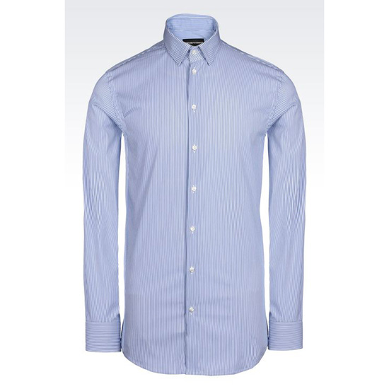 ARMANI SHIRT IN MICRO FANCY WEAVE COTTON Outlet Online