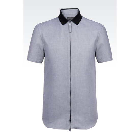 ARMANI SHIRT IN JACQUARD COTTON Outlet Online