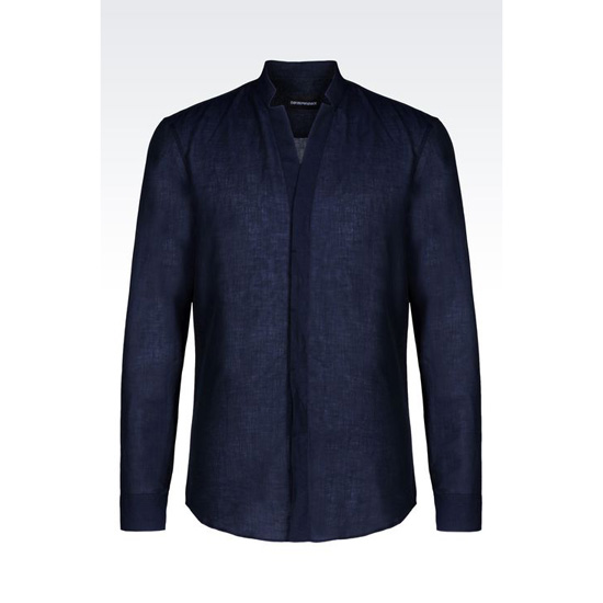 ARMANI COTTON LINEN SHIRT Outlet Online