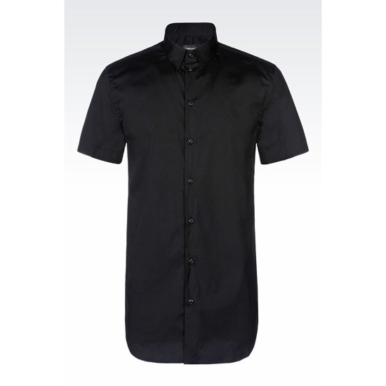 ARMANI SHORT SLEEVED POPLIN SHIRT Outlet Online