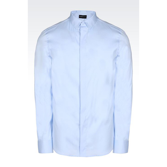 ARMANI SLIM FIT SHIRT IN STRETCH COTTON POPLIN Outlet Online