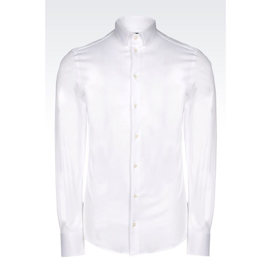 ARMANI SHIRT IN COTTON JERSEY Outlet Online