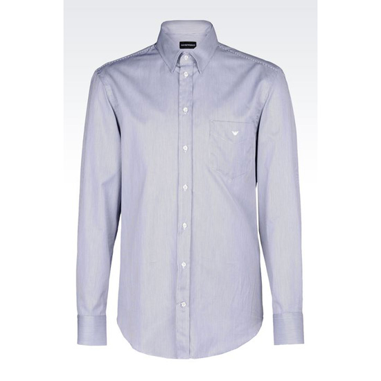 ARMANI SHIRT IN STRIPED TWILL Outlet Online