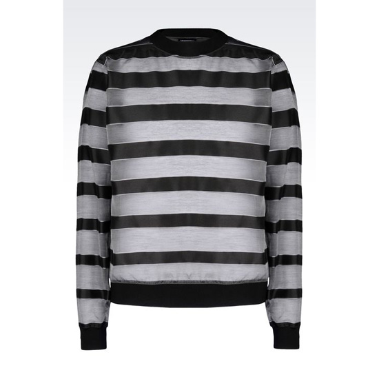 ARMANI RUNWAY SHIRT IN STRIPED SILK BLEND Outlet Online