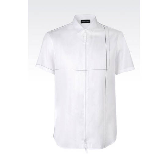 ARMANI FULL ZIP COTTON SHIRT Outlet Online