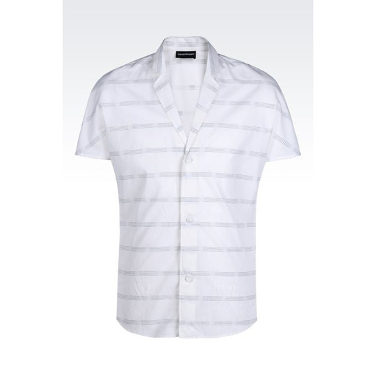 ARMANI LAPEL COLLAR SHIRT IN WOVEN COTTON Outlet Online