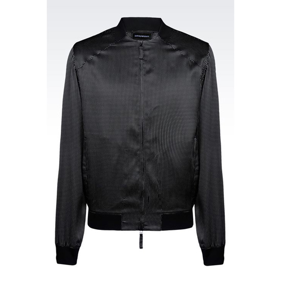 ARMANI RUNWAY FULL ZIP SHIRT IN PRINTED SATIN CR脢PE Outlet Online