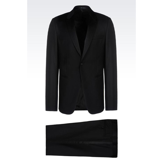 ARMANI TUXEDO IN WORSTED WOOL WITH SATIN DETAILS Outlet Online