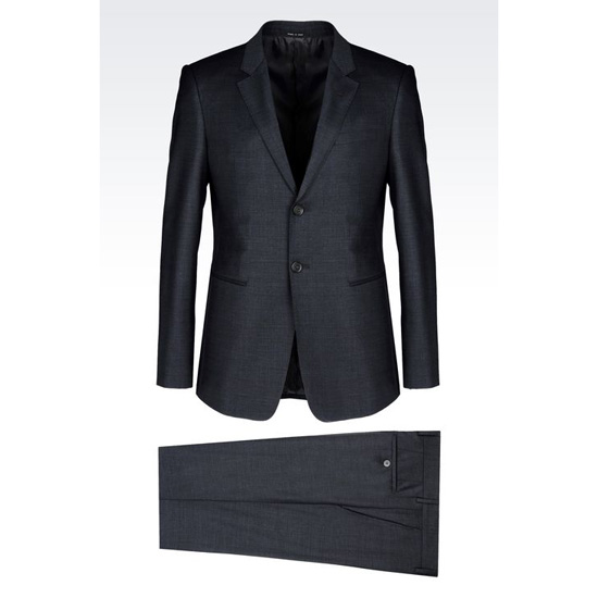 ARMANI SINGLE-BREASTED SUIT IN WOOL BLEND Outlet Online