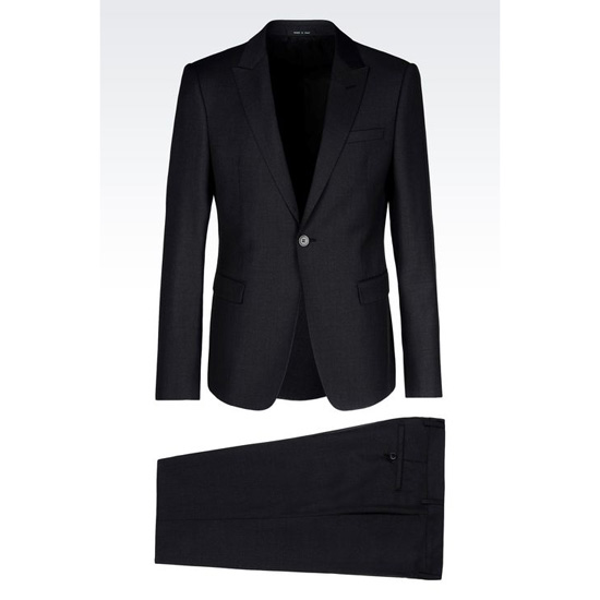 ARMANI SINGLE-BREASTED SUIT IN WORSTED WOOL Outlet Online