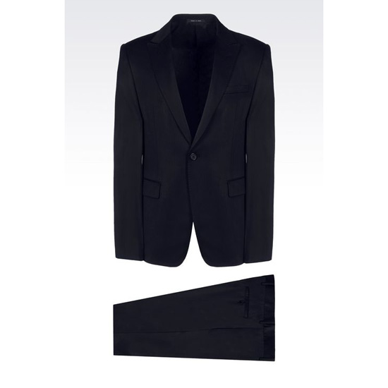 ARMANI SINGLE-BREASTED SUIT IN STRETCH WOOL AND SATIN Outlet Online