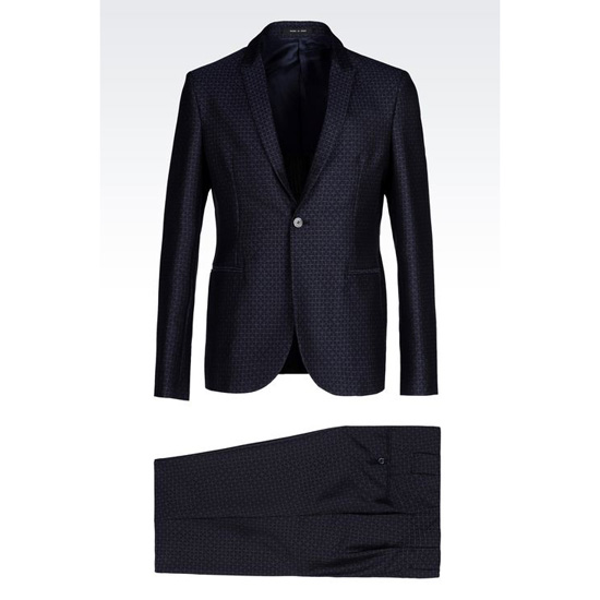 ARMANI RUNWAY SUIT IN JACQUARD WOOL Outlet Online