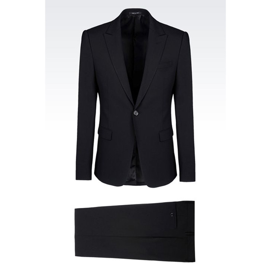 ARMANI SINGLE-BREASTED SUIT IN STRETCH WOOL Outlet Online
