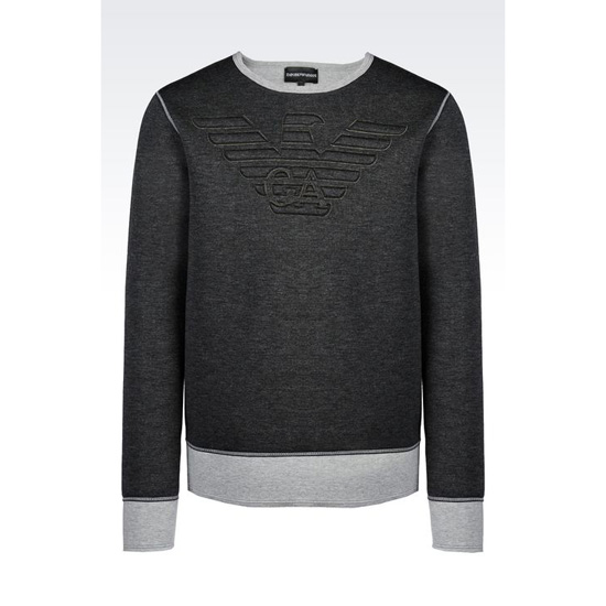 ARMANI CREW NECK SWEATSHIRT WITH LOGO Outlet Online