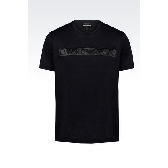 ARMANI LIGHT JERSEY T-SHIRT WITH LOGO PRINT Outlet Online