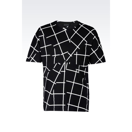 ARMANI RUNWAY T-SHIRT IN COTTON Outlet Online
