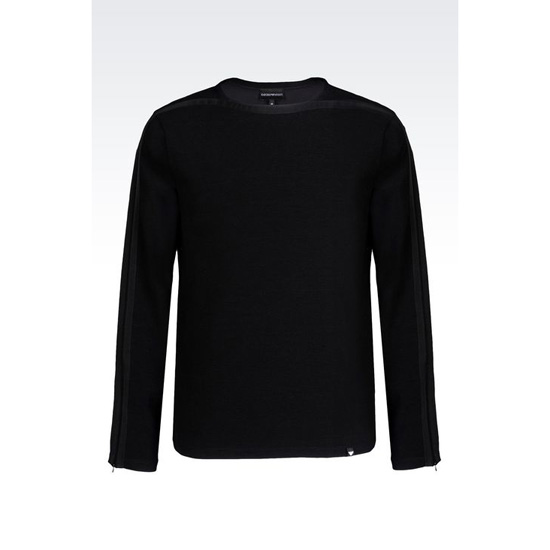 ARMANI OTTOMAN SWEATER IN COTTON BLEND Outlet Online