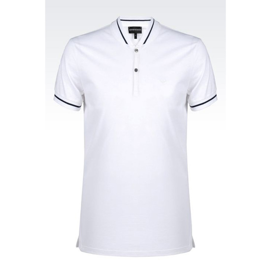 ARMANI POLO SHIRT IN COTTON PIQUE Outlet Online