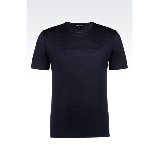 ARMANI JERSEY T-SHIRT WITH LOGO PRINT Outlet Online