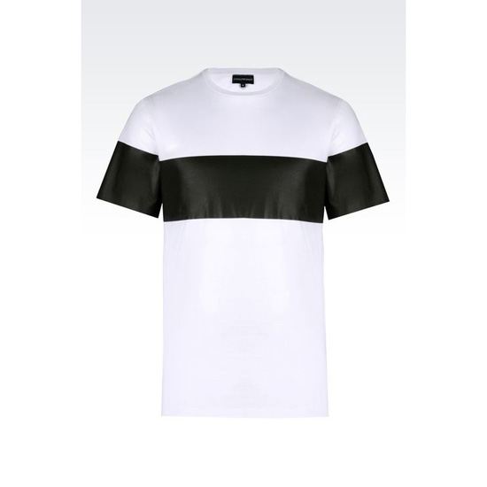 ARMANI RUNWAY T-SHIRT IN LISLE JERSEY Outlet Online