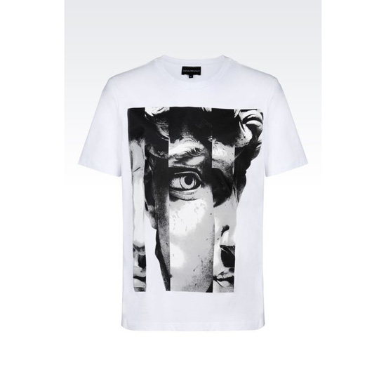 ARMANI T-SHIRT IN COTTON JERSEY Outlet Online
