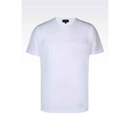 ARMANI T-SHIRT IN DEVOR脡 JERSEY Outlet Online