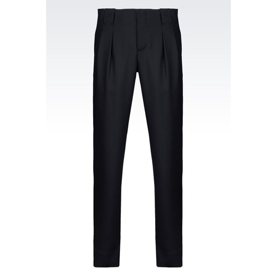 ARMANI RUNWAY TROUSERS IN MICRO TEXTURED WOOL Outlet Online