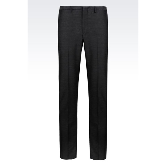 ARMANI RUNWAY TROUSERS IN COTTON AND WOOL SATIN Outlet Online