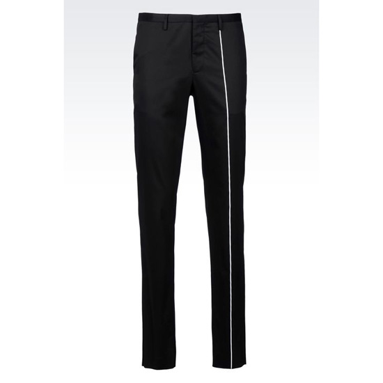 ARMANI RUNWAY TROUSERS IN COTTON SATIN Outlet Online