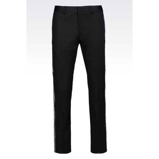 ARMANI RUNWAY TROUSERS IN STRETCH COTTON Outlet Online