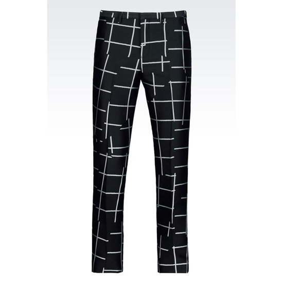 ARMANI JACQUARD TROUSERS Outlet Online