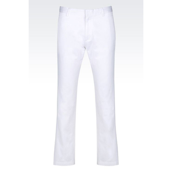 ARMANI WOVEN COTTON TROUSERS Outlet Online