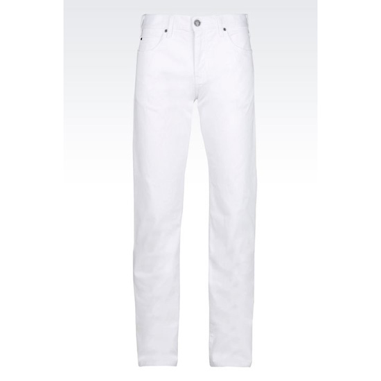 ARMANI REGULAR FIT 5-POCKET TROUSERS IN COMFORT GABARDINE Outlet Online