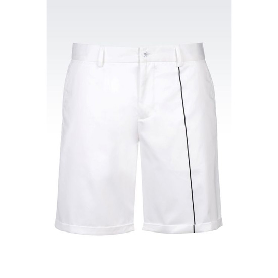 ARMANI BERMUDA SHORTS IN COTTON SATIN Outlet Online