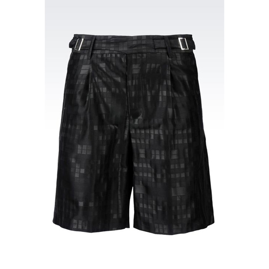 ARMANI RUNWAY BERMUDA SHORTS IN JACQUARD WOOL Outlet Online
