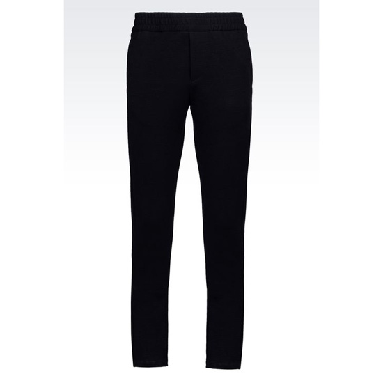 ARMANI TROUSERS IN MILANO RIB JERSEY Outlet Online