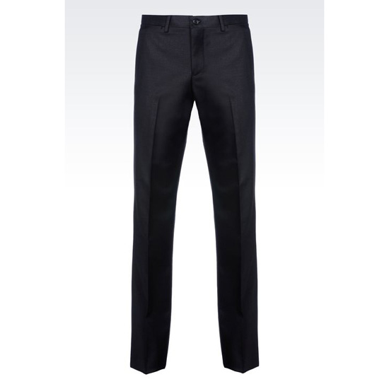 ARMANI WORSTED WOOL TROUSERS Outlet Online